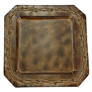Barbwire Rustic Ranch Square Plate Chargers (4)