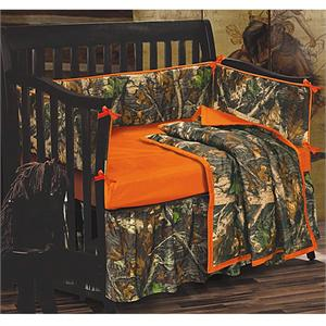 Camo Baby Crib Bedding Set Oak Camouflage