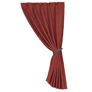 Rust Red Faux Suede Curtain