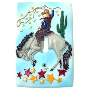 Cowboy Switchplate Single for Baby or Toddler