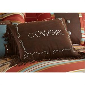 Cowgirl Studded Western Pillow 18x18