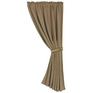 Crestwood Rustic Hounds Tooth Window Curtain