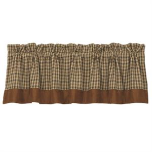 Crestwood Rustic Hounds Tooth Window Valance