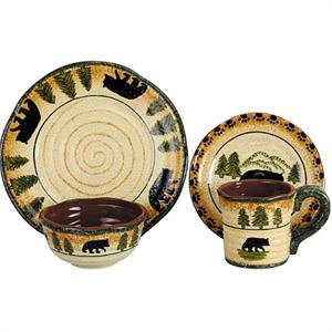 Bear Stoneware Dinnerware Set