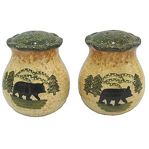 Lodge Bear Salt and Pepper Shakers