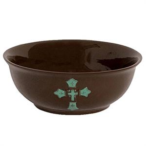 Turquiose Cross Serving Bowl