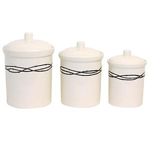 barbwire rustic ranch western decor kitchen canister set