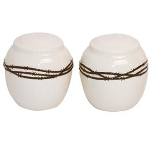 Barbwire Rustic Ranch Salt & Pepper Shakers
