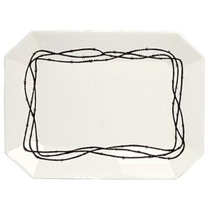 Barbwire Rustic Ranch Serving Plate Side Plate