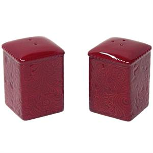 Savannah Salt & Pepper Shakers Red