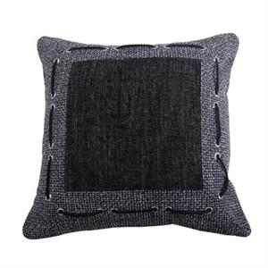 picture of chenille inset accent pillow