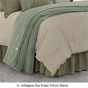 Arlington Velvet Sea Foam Duvet Super King