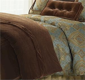 Bianca Copper Velvet Duvet Super King