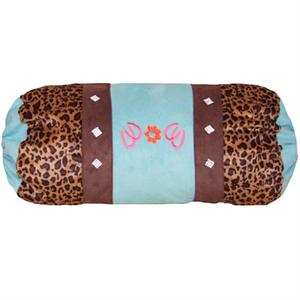 Cowgirl Leopard Neck Roll Pillow