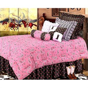 Cowgirl Pink Paisley Western Bedding Ensemble