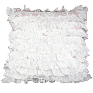 Cowgirl Pink Pasiley Lacey White Eyelet Pillow