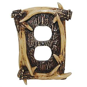 Antler Decorative Outlet Wall Plate Single