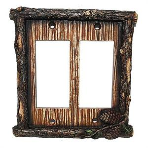 Pine Cone Switchplate Wall Plate Double Rocker