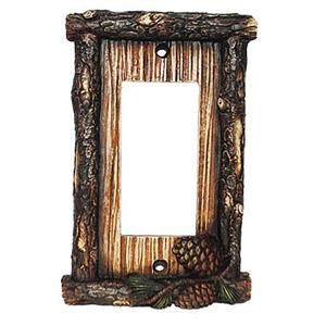 Pine Cone Decorative Switch Wall Plate Single Rocker Switch