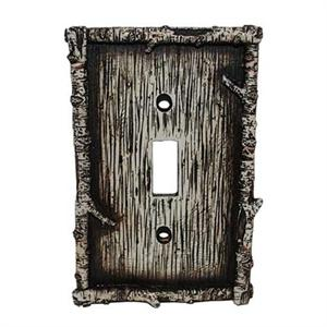 Birch Decorative Switch Wall Plate Single Switch