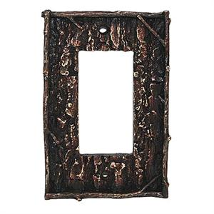 Bark Decorative Switch Wall Plate Single Rocker