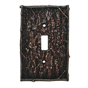 Camo Tree Bark Decorative Switch Wall Plate Single Switch