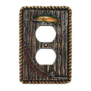 Rainbow Trout Decorative Outlet Wall Plate Single