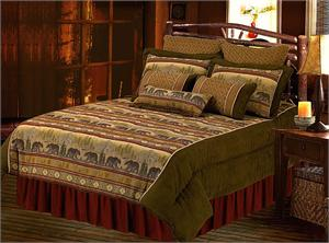 Rustic Black Bear Cabin Bedding
