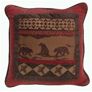 Cascade Bear Scene Pillow