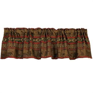 Cascade Bear Scene Window Valance