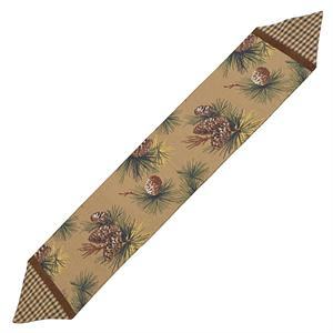 Crestwood Pine Cone Lodge Decor Style Table Runner