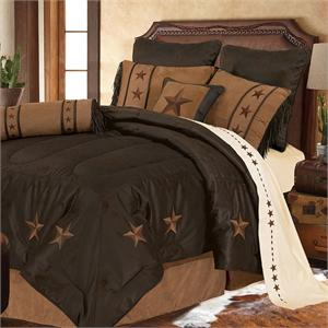 Laredo Star Western Bedding Comforter Chocolate