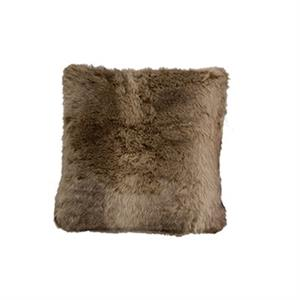 picture of faux fur wolf pillow