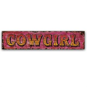 Cowgirl Vintage Western Decor Wood Sign