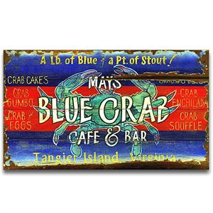 BLUE CRAB Vintage Wood Sign