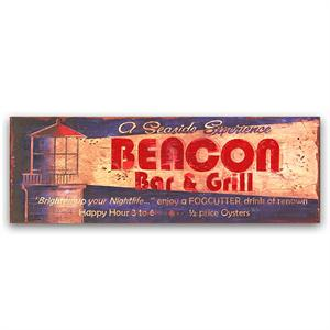BEACON Vintage Wood Sign