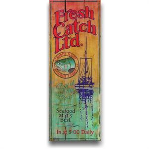 FRESH CATCH Vintage Wood Sign