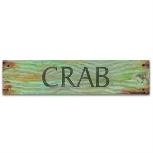CRAB Vintage Wood Home Decor Sign