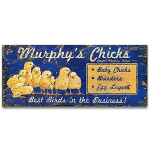 CHICKS Vintage Decor Wood Sign
