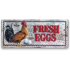 FRESH EGGS Country Decor Vintage Wood Sign