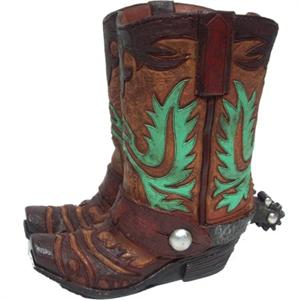 Turquoise Western Cowboy Boots Vase