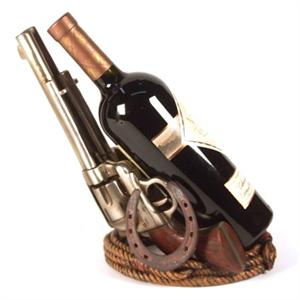 Image of a Western Six Shooters Wine Holder