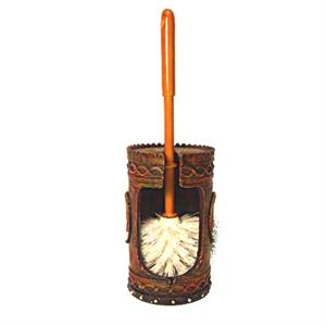 Star Cowboy Boots Bowl Brush and Holder