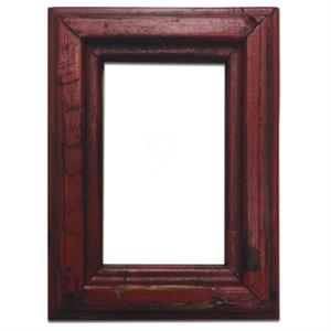 Rustic Distressed Wood 8x10 Picture Frame Red