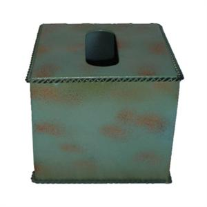 Image of Turquoise Western Styled Rustic Metal Tissue Cover