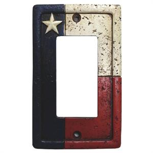 Rustic Lone Star Texas Flag Switch Wall Plate