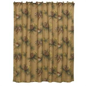 Crestwood Pine Cone Rustic Shower Curtain