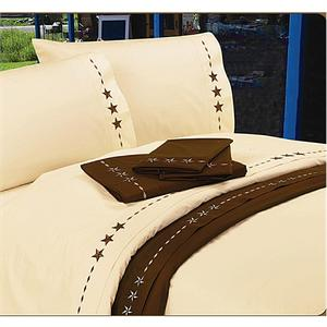 Laredo Star Western Bedding Sheet Set Cream