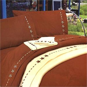 Laredo Star Western Bedding Sheet Set Copper
