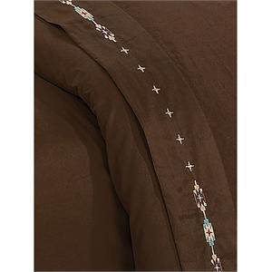 Navajo Southwestern Bedding Sheet Set Chocolate